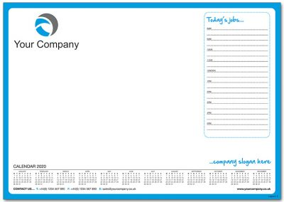 Template 2 with Calendar and Todays Jobs