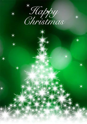 1671 - Cascading Tree Branded Christmas Card