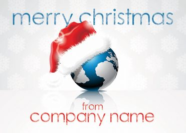 1684 - Santa's Globe Branded Christmas Card