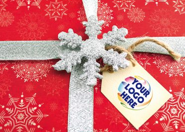 1605 - Red Snowflake Logo Branded Christmas Card