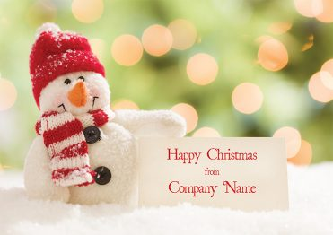 1629 - Snowman Sign Branded Christmas Card