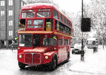 1635 - London Bus Branded Christmas Card