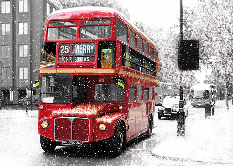 1635 - London Bus Branded Christmas Card