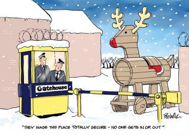 Funny6 - Trojan Reindeer Branded Christmas Card