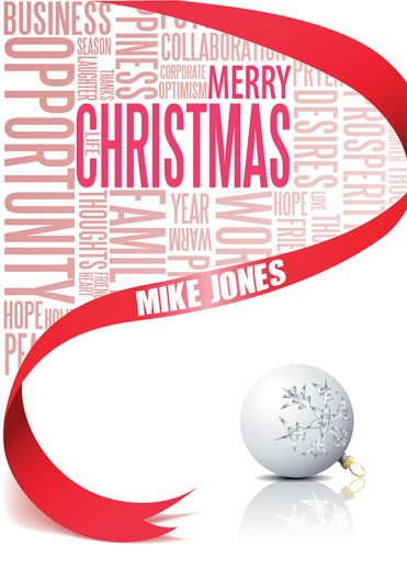 Personalised10 - Business Words Branded Christmas card