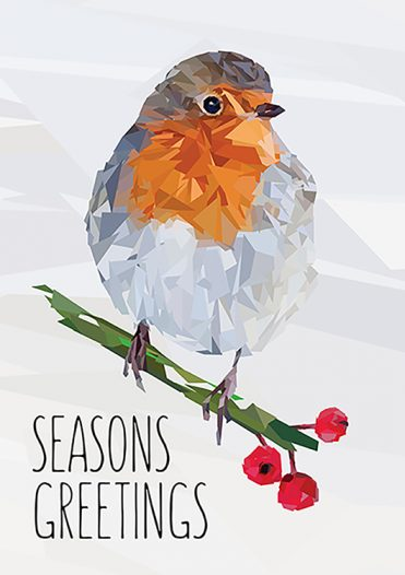 1650 - Red Robin Branded Christmas Card