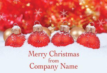 1667 - Four in a Row Branded Christmas Card